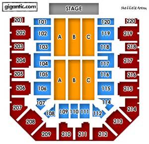 sheffield arena floor plan under 14s are not permitted in the standing area they must purchase a seat