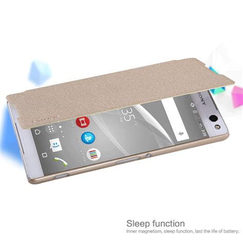New Sony Xperia C5 Ultra Mofi Soft Leather Flip Flipcase Cover C nillkin sparkle series new leather for sony xperia c5