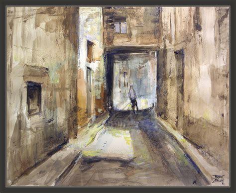 imagenes artisticas reconocidas valls pintura tarragona paisajes calles tecnica mixta