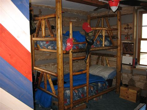 cedar log bunk bed by robert r norman and woodzy org handmade log bunk beds by cabins to castles carpentry llc