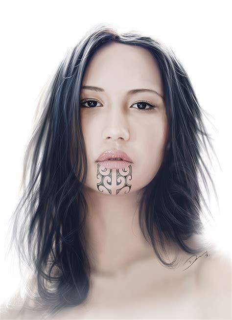 moko digital painting on behance