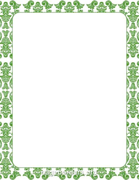 6 best images of printable damask borders for invitations printable green damask border use the border in microsoft