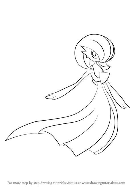 pokemon coloring pages gardevoir learn how to draw gardevoir from pokemon pokemon step by
