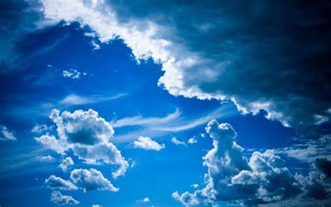 blue sky clouds wallpaper