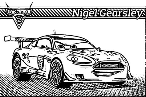 coloring pages cars 2 characters nigel gearsley coloring page coloring home