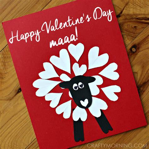 valentines morning ideas shaped sheep craft idea crafty morning