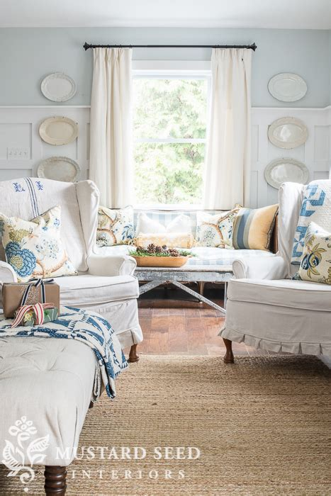 miss mustard seed slipcover on the web miss mustard seed and her wing back chairs