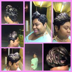 platinum blonde 27 piece weave pictures 27 piece quick weave short cut with burnt orange mohawk
