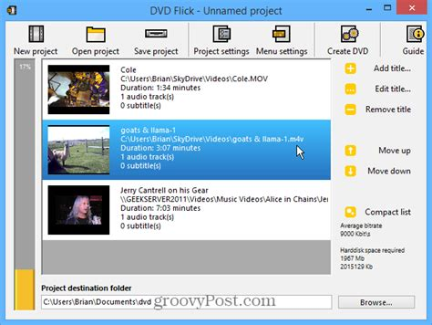 dvd format file type dvd flick burns any video file type to a playable dvd