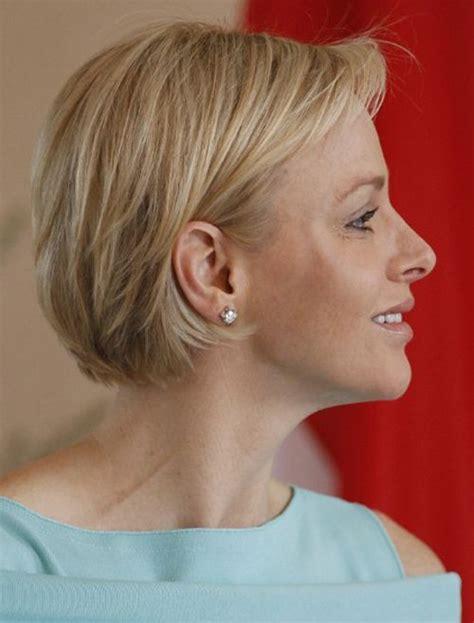 short layered bob hairstyles  older women  short