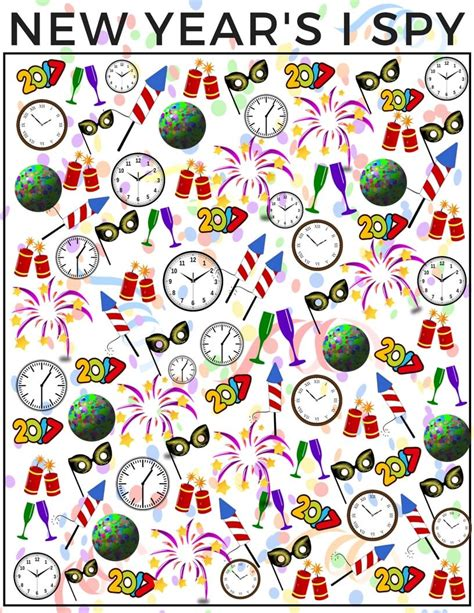 new year 2016 and activities new years counting i activity for free printable