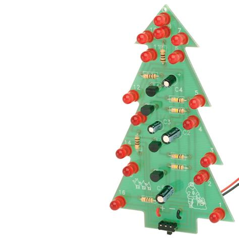 rapid flashing led christmas tree project kit rapid online