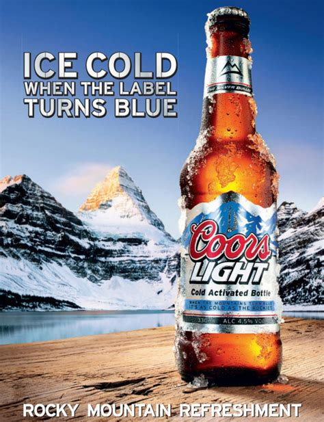 miller light alcohol content how cold is coors light s super cold beer fast company