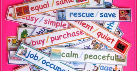 synonym words with w study page nyla s crafty teaching synonym word wall with pictures