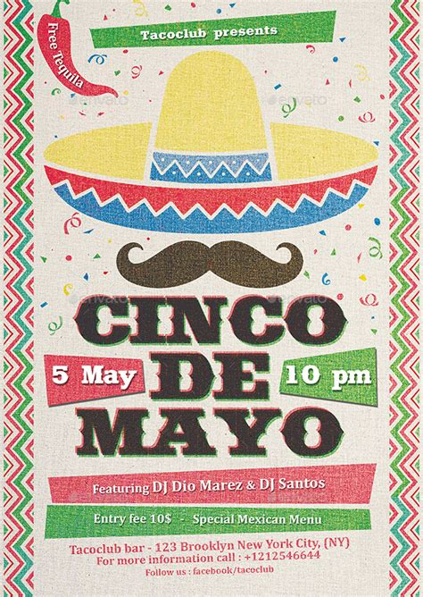 Cinco De Mayo Flyer Template By Indworks Graphicriver Cinco De Mayo Template