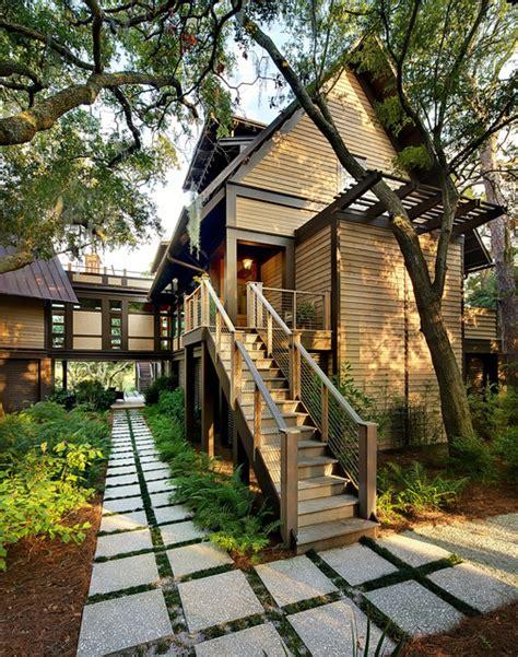 nature themed house tree house kiawah island contemporary exterior