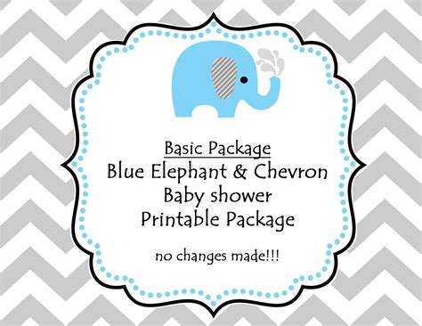 Elephant Printable Baby Shower