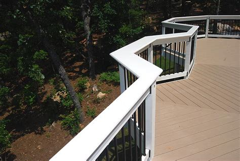 deck railing bar top deck pictures deck photos custom decks georgia composite