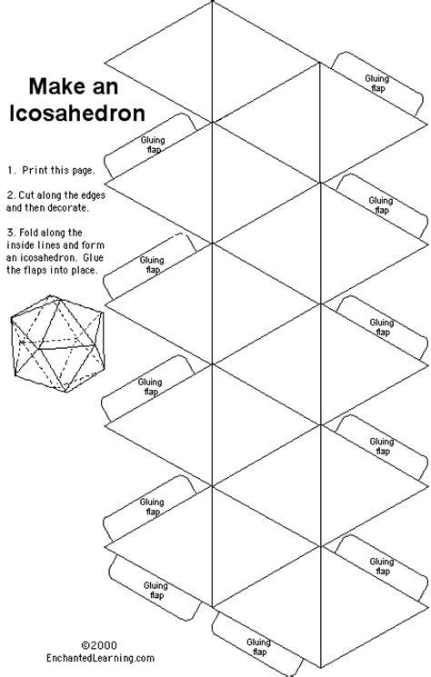 icosahedron template icosahedron enchantedlearning