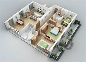 home design 3d bedroom apartment designs shown with rendered 3d floor plans