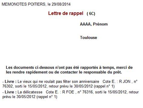 Modele Lettre De Rappel Administrative Bcdi Lettre De Rappel
