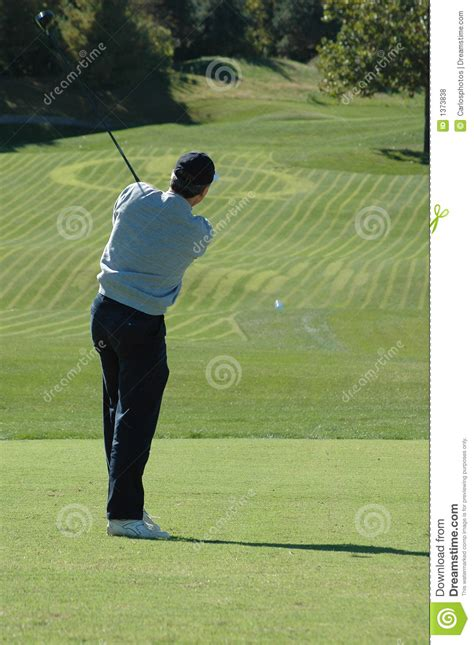 back friendly golf swing golfer after the swing royalty free stock photos image