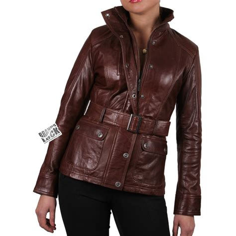 ladies brown leather biker women brown leather biker jacket silic