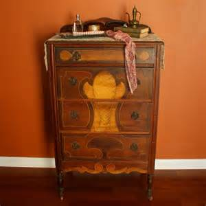 antique highboy chest of drawers 1930s walnut bohemian