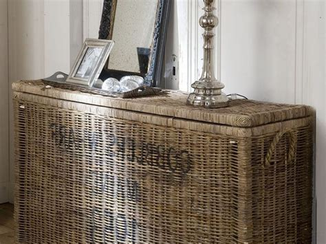 sofa table with wicker baskets console table with wicker baskets home design ideas