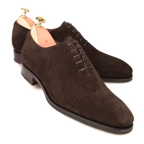 brown suede oxford shoes wholecut oxford in brown suede carmina