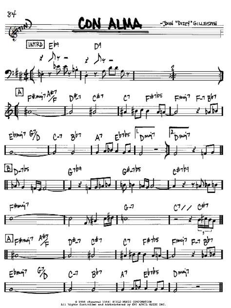 Con Alma sheet music by Dizzy Gillespie (Real Book