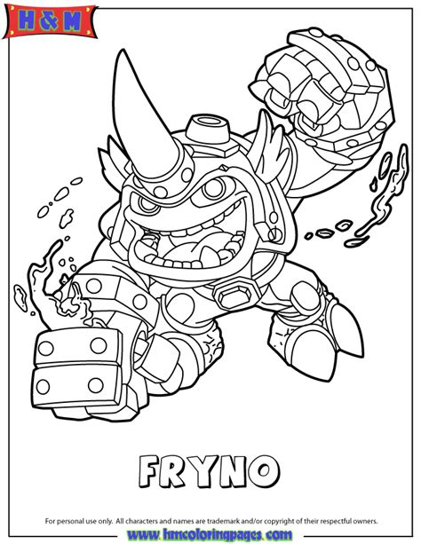free coloring pages of skylanders trap team face