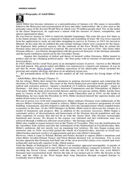 a concise biography of adolf hitler pdf adolf hitler docx adolf hitler
