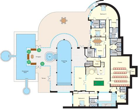 Luxury Estate Home Plans by Floorplans Homes Of The Rich