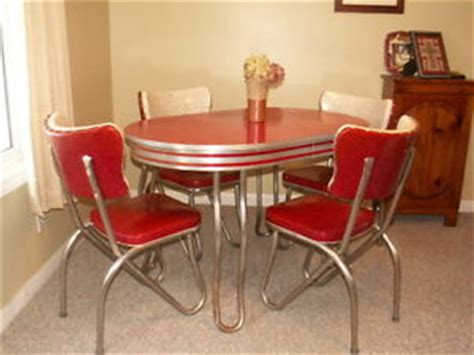 Kitchen Table King West Retro Kitchen Table And Chair Set Dinette Dining Vintage
