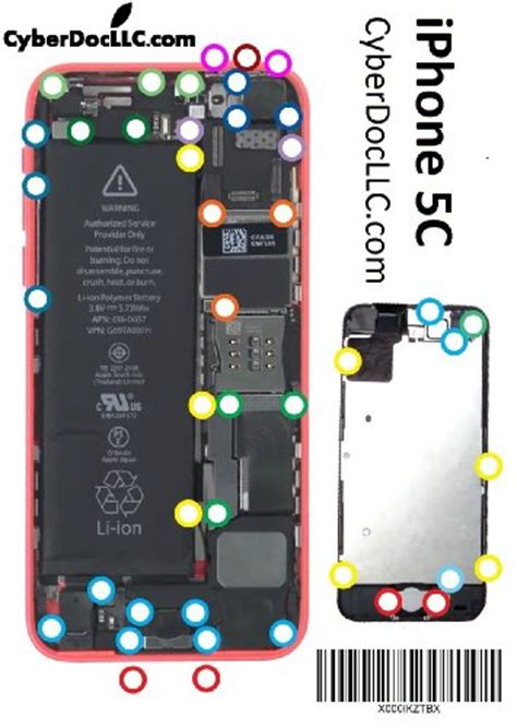 iphone 5 screws diagram iphone 5c cyberdoc mmagnetic chart mat for iphone 5c