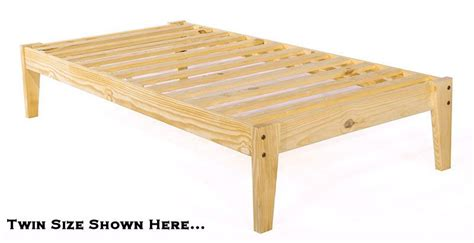 platform twin bed frame twin xl pine wood platform bed