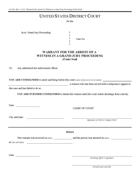 United States Warrant Search Federal Arrest Warrant Pdf Free Modimeena