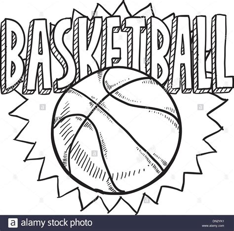 doodles basketball spielen basketball sketch stockfotos basketball sketch bilder