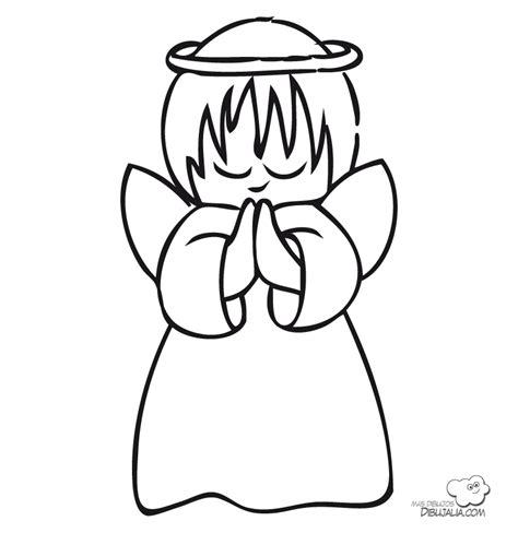 imagenes de ninos rezando para colorear buen 193 ngel rezando dibujalia dibujos para colorear