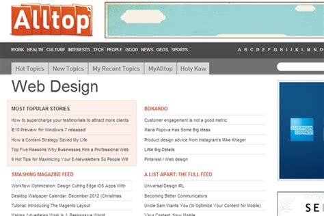 design inspiration rss feeds 22 resources for new web design development articles