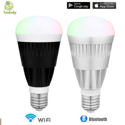 Wireless Led Light Bulbs Tanbaby 10w Smart Led Bulb Wifi Bluetooth Wireless Remote Led Light L Rgb White