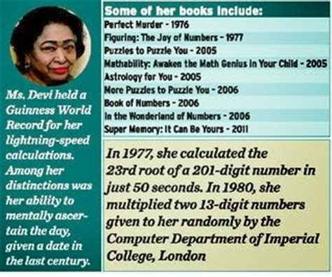 computer biography in hindi biography of quot human computer quot shakunthala devi indian