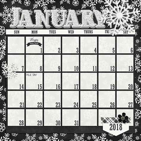 scrapbook calendar template digital scrapbook templates 2018 january scrapping