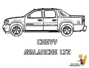 06 Chevy Avalance Truck Coloring At Pages Book For Kids Boys  sketch template