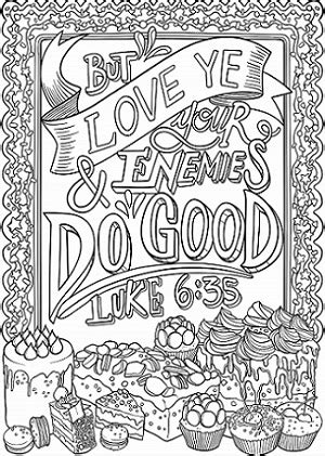 Luke 6 Coloring Pages by Luke 6 35 Coloring Page Spiritual Drawing 7 Of 10