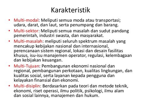 Manajemen Transportasi Perkotaan Masalah Transportasi Di Wilayah Perko analisis sistem transportasi