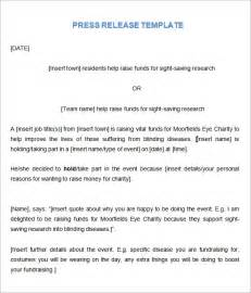 Press Release Letter Format Sle Press Release Templates 7 Free Documents In Word Pdf