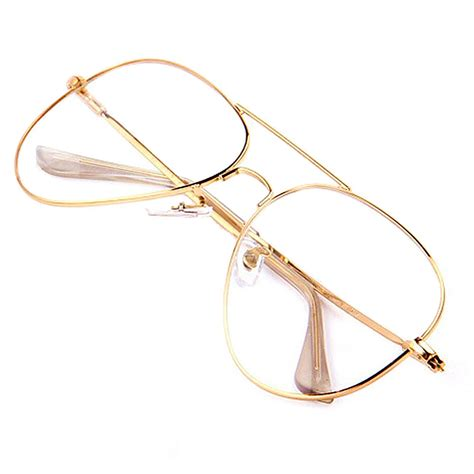 gold clear glasses myopia clear frame glasses