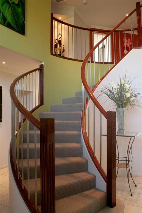 solid banister stair elegant half turn staircase design ideas with solid